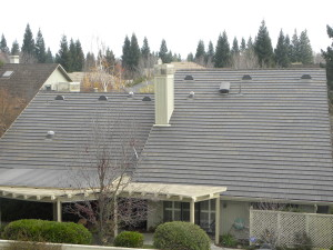 Large Half Round Dormer vents installed on the back of a roof in Gold River, Ca.